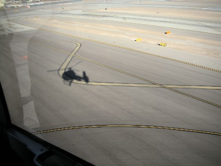 Our Shadow during takeoff