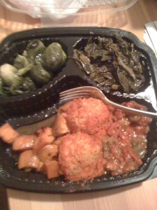 Meatballs & veggies takeout
